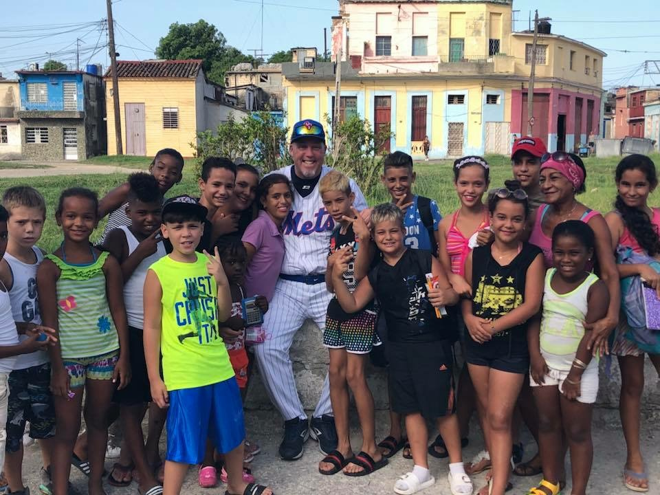 Charlie Boden with Cuban Kids