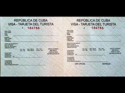 Visa - Tarjeta de Turista - Cuba