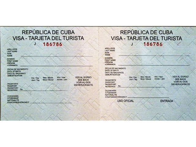 Havana Tour Visa - Tarjeta de Turista - Cuba